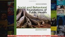 Download PDF  Social and Behavioral Foundations of Public Health FULL FREE
