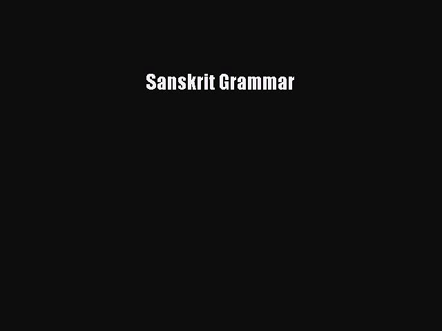 [PDF] Sanskrit Grammar Download Full Ebook