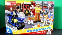Fisher Price Imaginext And Santa Hot Wheels Advent Calendar Surprise Toys Day 1 Merry Christmas