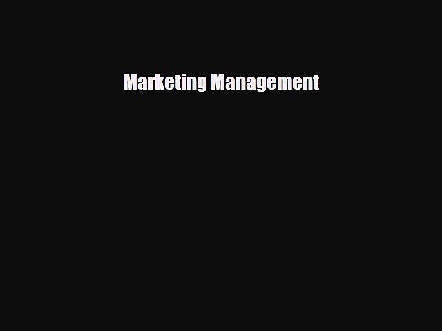 [PDF] Marketing Management Download Full Ebook
