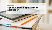 Create a cascading filter in an application SAP BusinessObjects Design Studio 1.0
