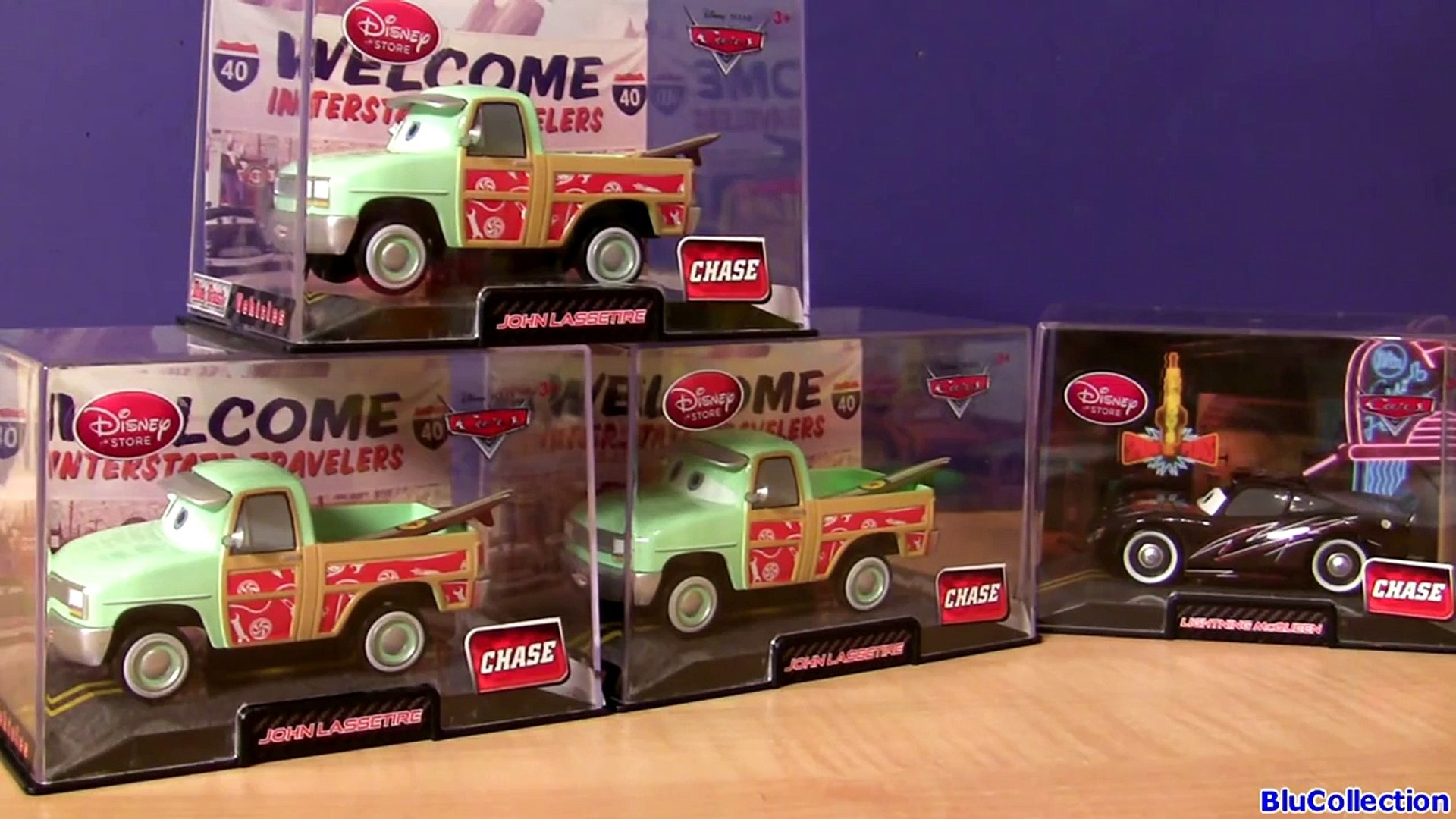 Disney Store Cars Die Cast Collector Case John Lassetire Chase w// Surfboard NEW