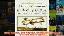 Download PDF  Mount  Clemens   Bath  City USA in Vintage Postcards MI Postcard  History  Series FULL FREE