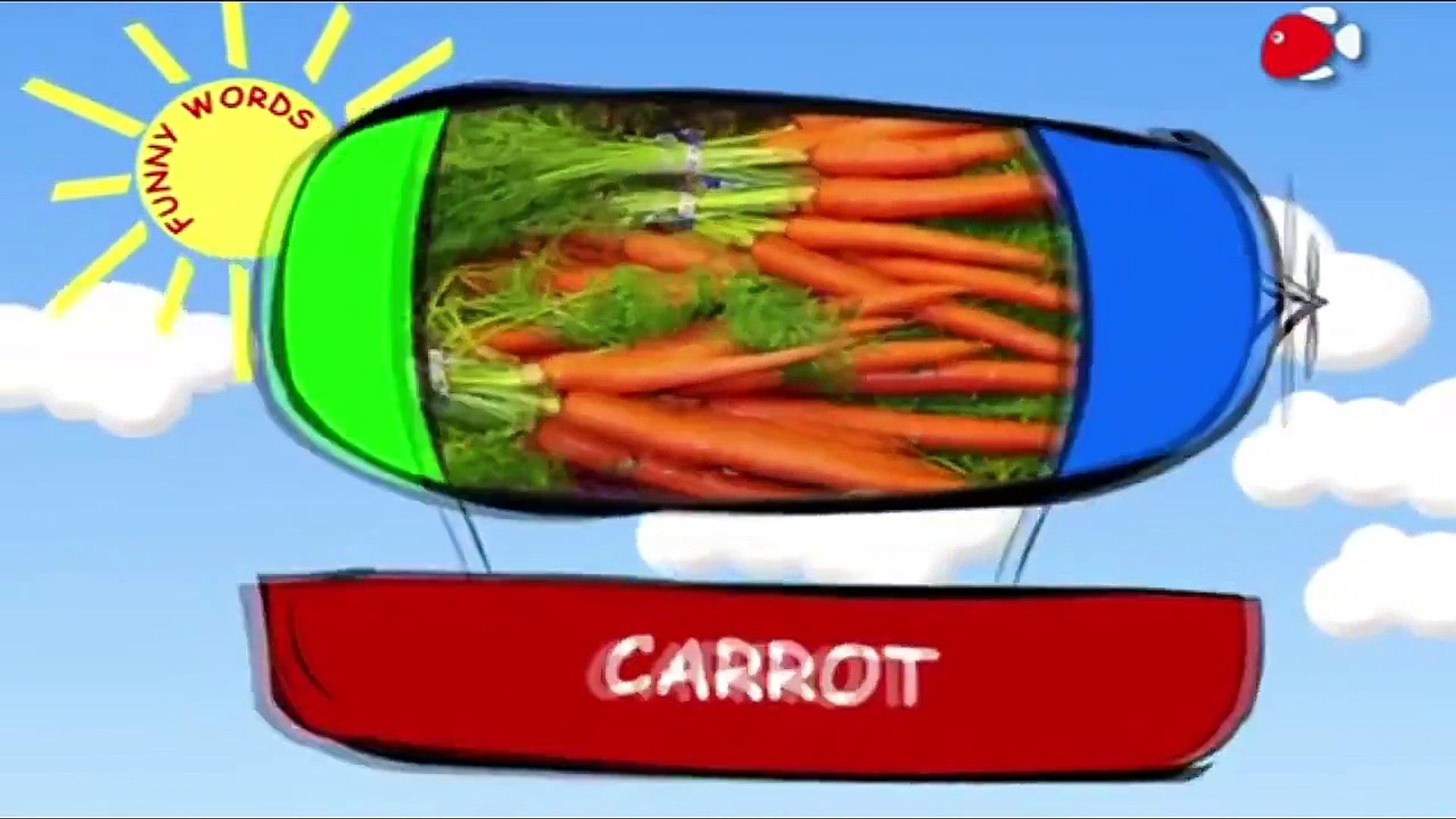 Уроки английского языка для самых маленьких: Учим овощи. Словарь для самых маленьких.