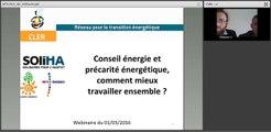 Mardi de la Transition Energétique : Conseil énergie et précarité énergétique, comment mieux travailler ensemble ? 2/2