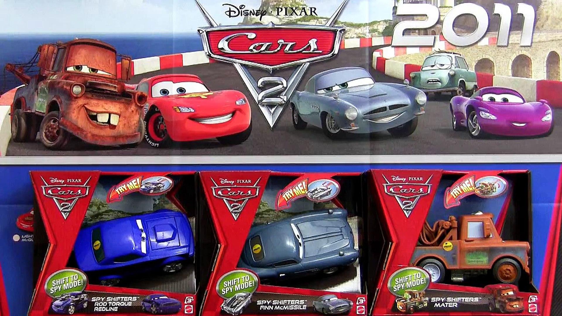 Cars 2 Spy Shifters Transformers Mater Rod Torque Redline Finn
