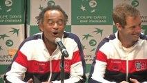 Tennis - Coupe Davis : Les choix de Yannick Noah
