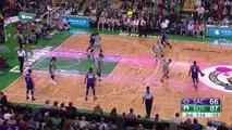 Isaiah Thomas Blocks DeMarcus Cousins   Sacramento Kings vs Boston Celtics