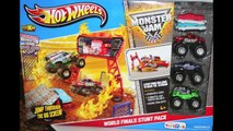 World Finals Stunt Pack Monster Jam Hot Wheels With Disney Cars Monster Truck Mater