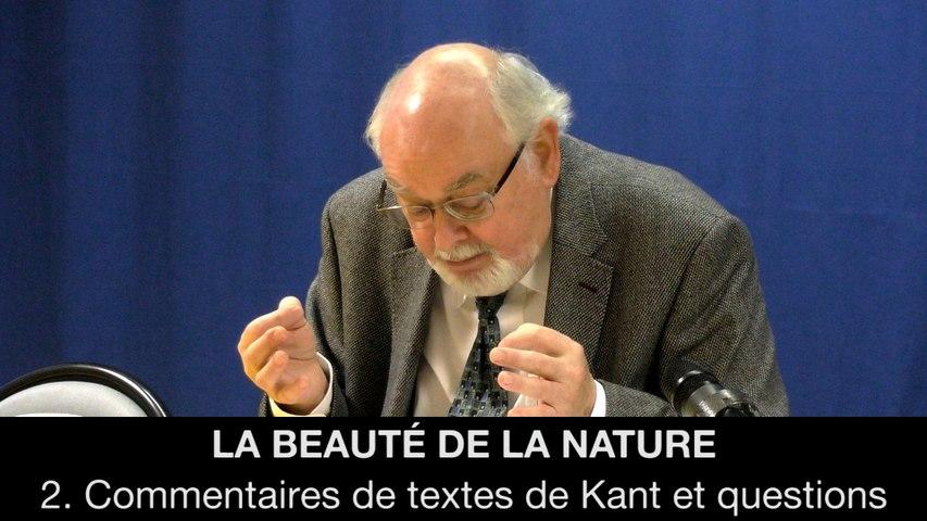 La beauté de la nature - 2. Commentaires de textes de Kant et questions, Alain CHAUVE