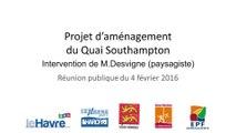Projet d'aménagement du Quai Southampton : Michel Desvigne, paysagiste