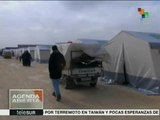 Miles de refugiados sirios piden al mundo ayuda humanitaria