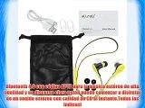 aLLreLi Auriculares estéreo inalámbrico con micrófono llamadas manos libres Bluetooth 4.0 para