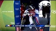 Antoine Dénériaz remporte la médaille d'or de descente aux Jeux Olympiques de Turin (2006)