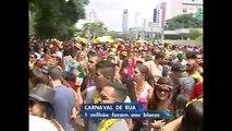 Blocos de rua reuniram um milhão de foliões em São Paulo
