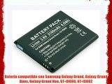 Batería compatible con Samsung Galaxy Grand Galaxy Grand Duos Galaxy Grand Neo GT-I9080 GT-I9082