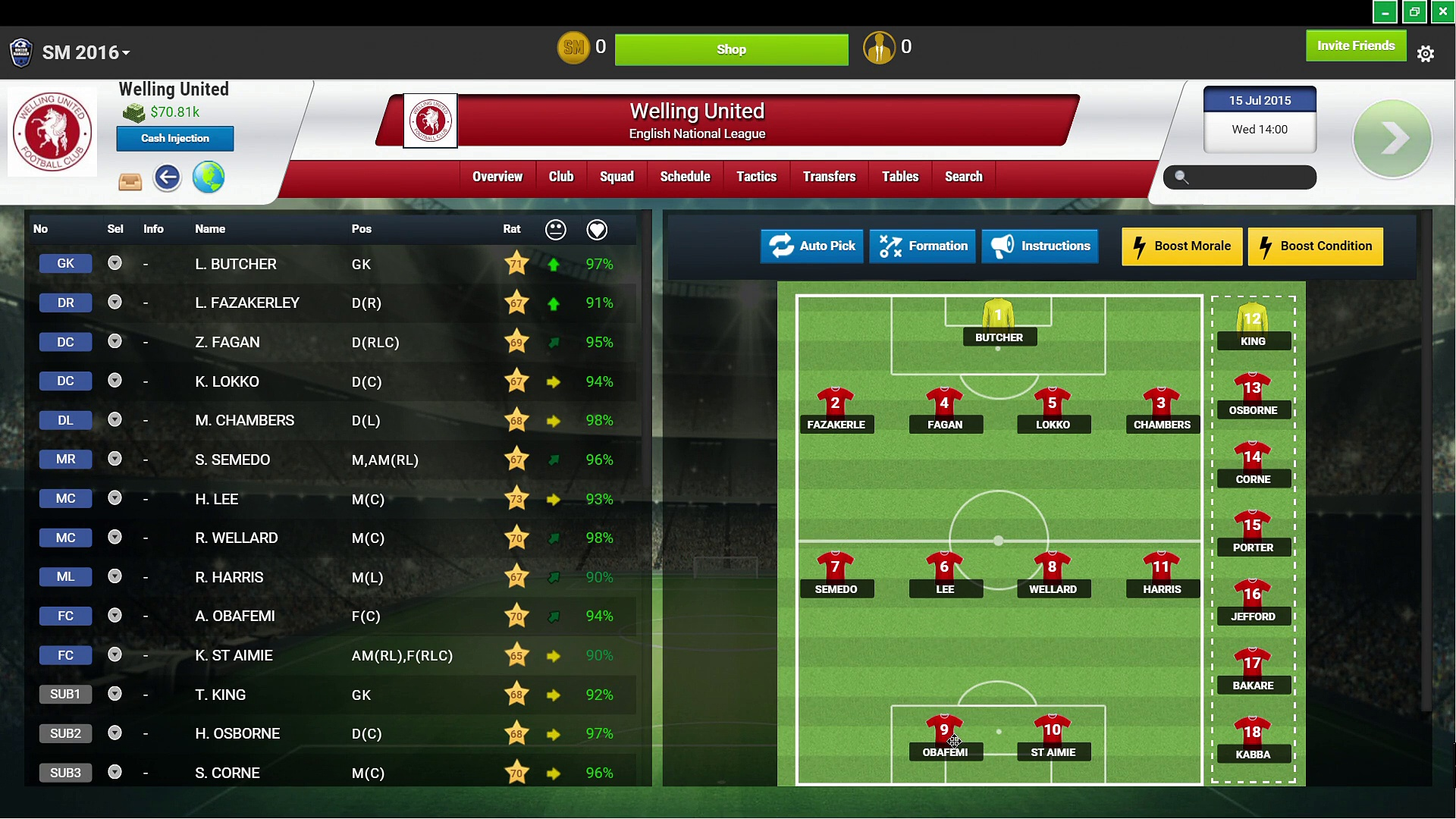 Soccer Manager – RAW Gaming 1