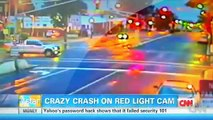 Car Accidents Car Gets Crazy Air After Running Red Light