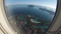 Landing Mahe Airport / Atterrissage aéroport de Mahé Seychelles