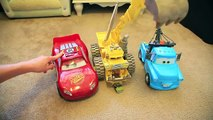 Disney Cars RARE BIG Screaming Banshee Talking Lightning McQueen and Blue Mater with Lights