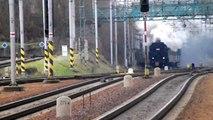 Choceň i parni vlak Mikuláš z lokomotywa 423.009