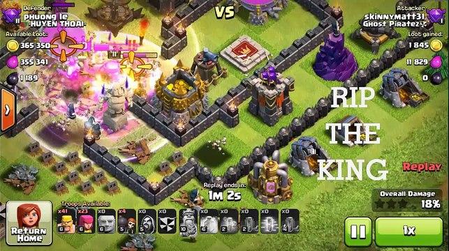 Farming Base Hall 9 - Anti Golem/Giant/Super Queen [Clash of Clans]