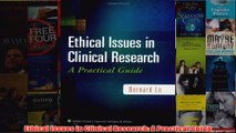 Download PDF  Ethical Issues in Clinical Research A Practical Guide FULL FREE