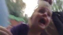 Première fois dans des montagnes russes - Réaction d'une fillette morte de peur!