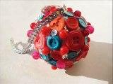 DIY Ёлочный шар из пуговиц своими руками. Новогодняя игрушка. Мастер класс