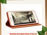 XUNDD Nobe iPhone 6 Plus 5.5 Premium Bolso Caja del libro Funda Caja del teléfono móvil para
