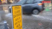 Lannion. Pluies et marée font déborder le Léguer