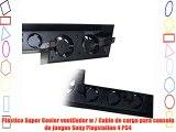 Plástico Super Cooler ventilador w / Cable de carga para consola de juegos Sony Playstation