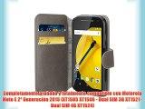 JAMMYLIZARD | Funda De Piel Para Motorola Moto E 2015 (2ª Generación) Retro Wallet Tipo Cartera