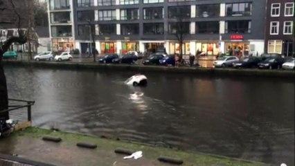 Pays-Bas : l'incroyable sauvetage d'une mère et de son bébé tombés dans le canal