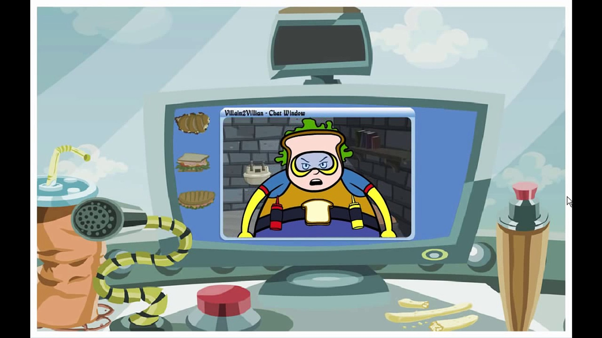 Word Girl Chucks Extreme Sandwich Crusher Cartoon Animation PBS Kids Game Play Walkthrough