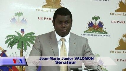Président Provisoire:Jean Marie Salomon Sénateur du Sud exprime son désaccord