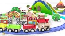 Dessins animés pour bébé en français. Le petit train et des animaux sauvages. Learn Fr