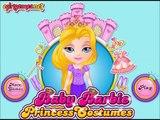 Baby Barbie Tries Princess Costumes Gameplay-Baby Barbie Games-Dress up Games Online