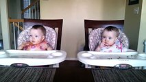 A very little cute twin babies Dancing on Music Funny!!