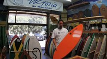 Poly Carbon Epoxy skimboard from Victoria Skimboards