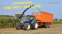 New Holland FR600 Loonw. Neyt Van Laere mais hakselen 2014