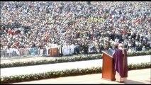 """Existe """"una sociedad de pocos y para pocos"""", denuncia el papa en Ecatepec"""