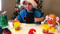 Danny Toy Adventures - Its A Christmas Party with Mr. Potato Head, Thomas & Friends & Woody & Buzz!