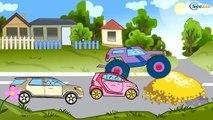 ✔ Monster Truck — la course pour la ville / Collection de dessins animés sur voitures ✔