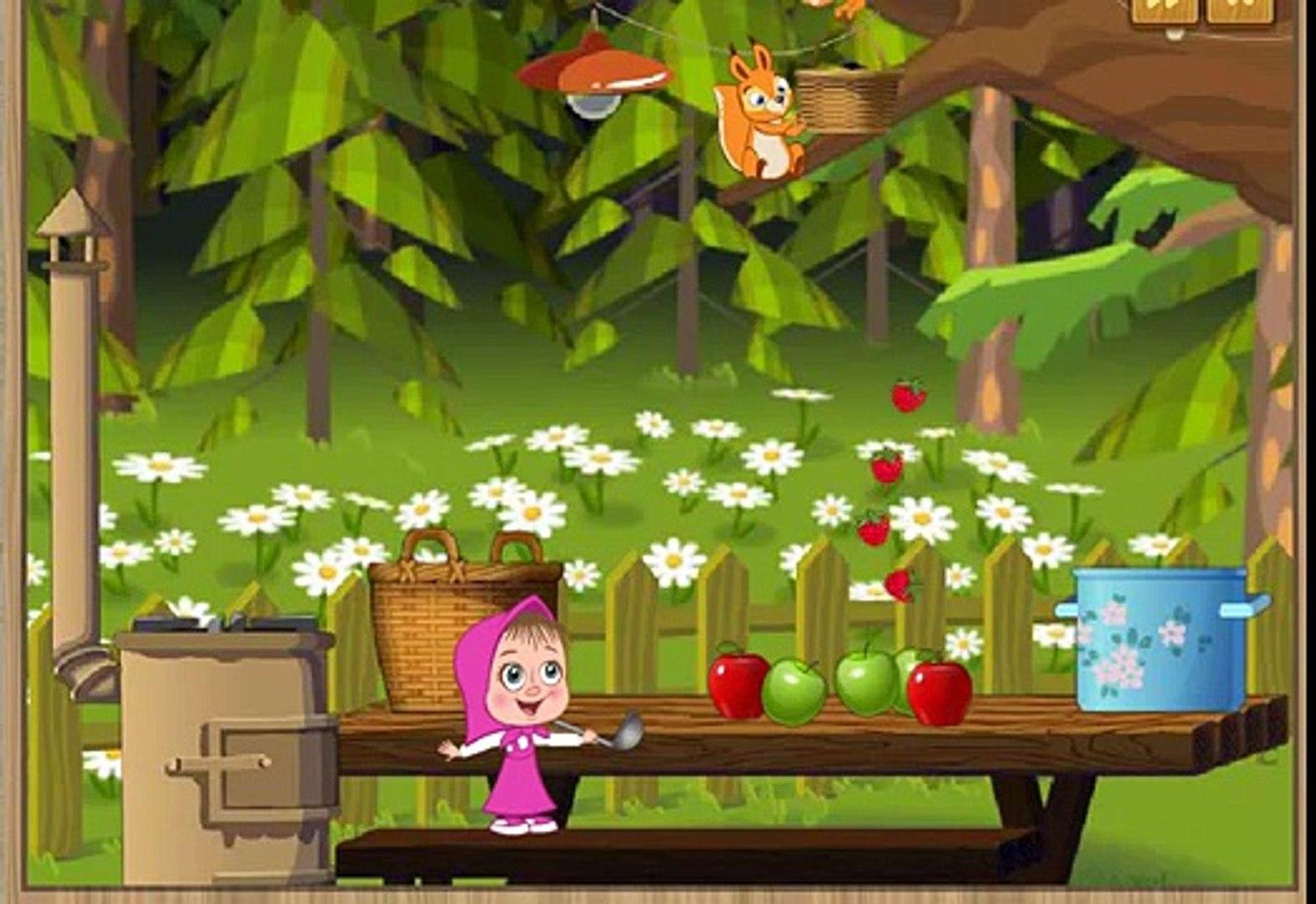 Маша и Медведь Сортируем овощи фрукты Поцветам и принадлежностям 2014 все вместе