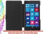 StilGut Book Type funda con cierre de clip de piel para su Microsoft Lumia 535 / 535 Dual SIM