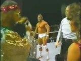 Paul Orndorff & Tito Santana vs Randy Savage & Bob Orton   Championship Wrestling May 3rd, 1986