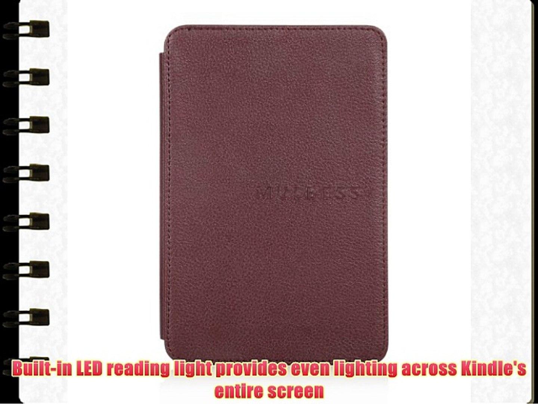 Mulbess® Amazon Kindle 4 Funda de cuero Piel Genuina con luz Amazon para Kindle 4 color Marrón