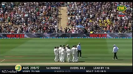 Trent Boult's brilliant one hand catch to dimiss Mitchell Marsh - NZ vs AUS 1st Test Day 2