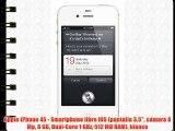 Apple iPhone 4S - Smartphone libre iOS (pantalla 3.5 cámara 8 Mp 8 GB Dual-Core 1 GHz 512 MB